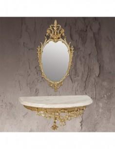 Consola +  Espejo Esmeralda